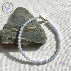 Blue Lace Agate Beaded Bracelet